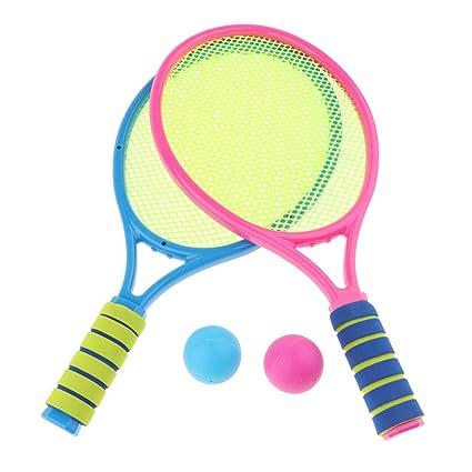 Amazon.com: Juego de tenis para niños con 2 raquetas y 2 ...
