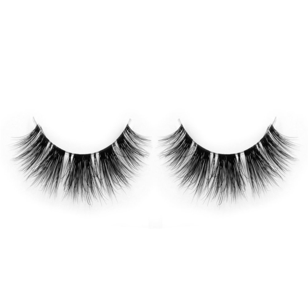 08e43b8da0b Amazon.com : Lunamoon Invisible Transparent Band 3D Mink Fur Fake Eyelashes  Women's Makeup False Lashes Hand-made Mink Lash 1 Pair Pack (TD19) : Beauty