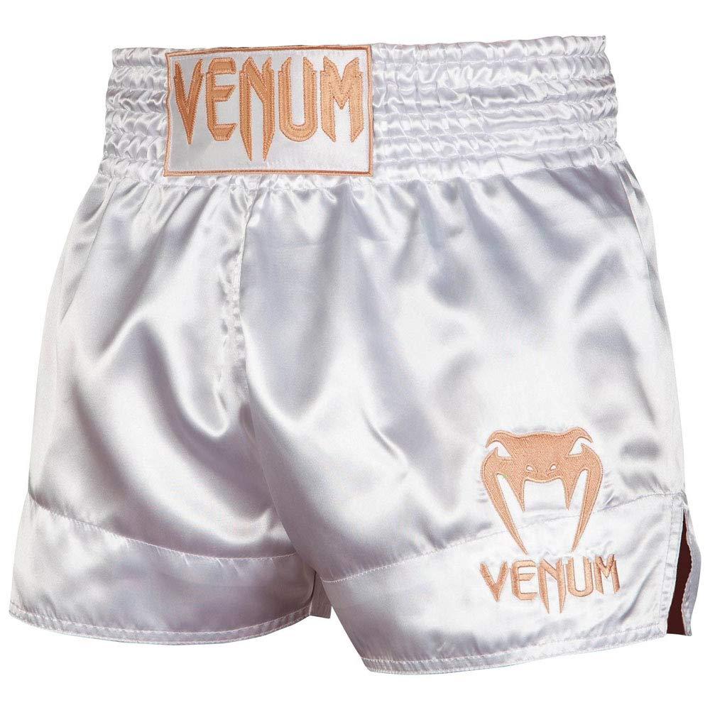 Venum Muay Thai Shorts Weiss-Gold Classic