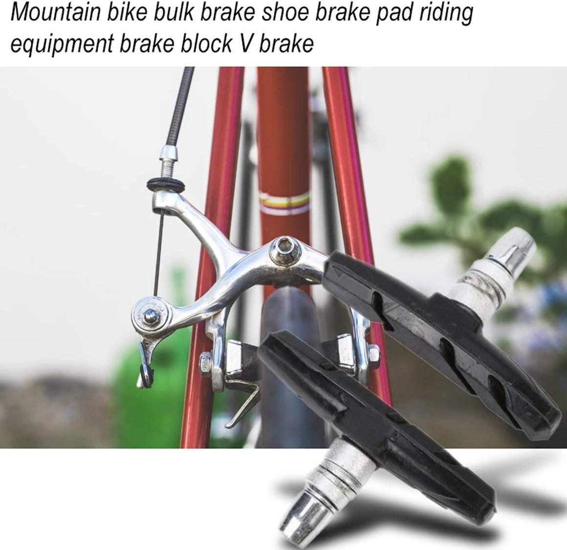 Funnyrunstore Bicicleta de monta/ña Zapata de Freno a Granel Pastillas de Freno Equipo de conducci/ón Bloque de Freno V Freno Negro