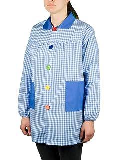 Fratelliditalia - Camisa de mujer, bata de maestra, de algodón, mujer, Verde, 42: Amazon.es: Deportes y aire libre