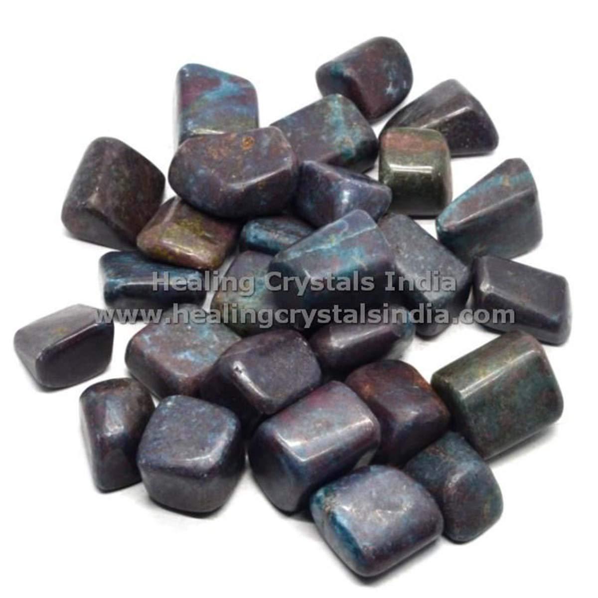 Indian Handicrafts Export 1lb Natural Ruby Kynite Stone Tumble HCS0683