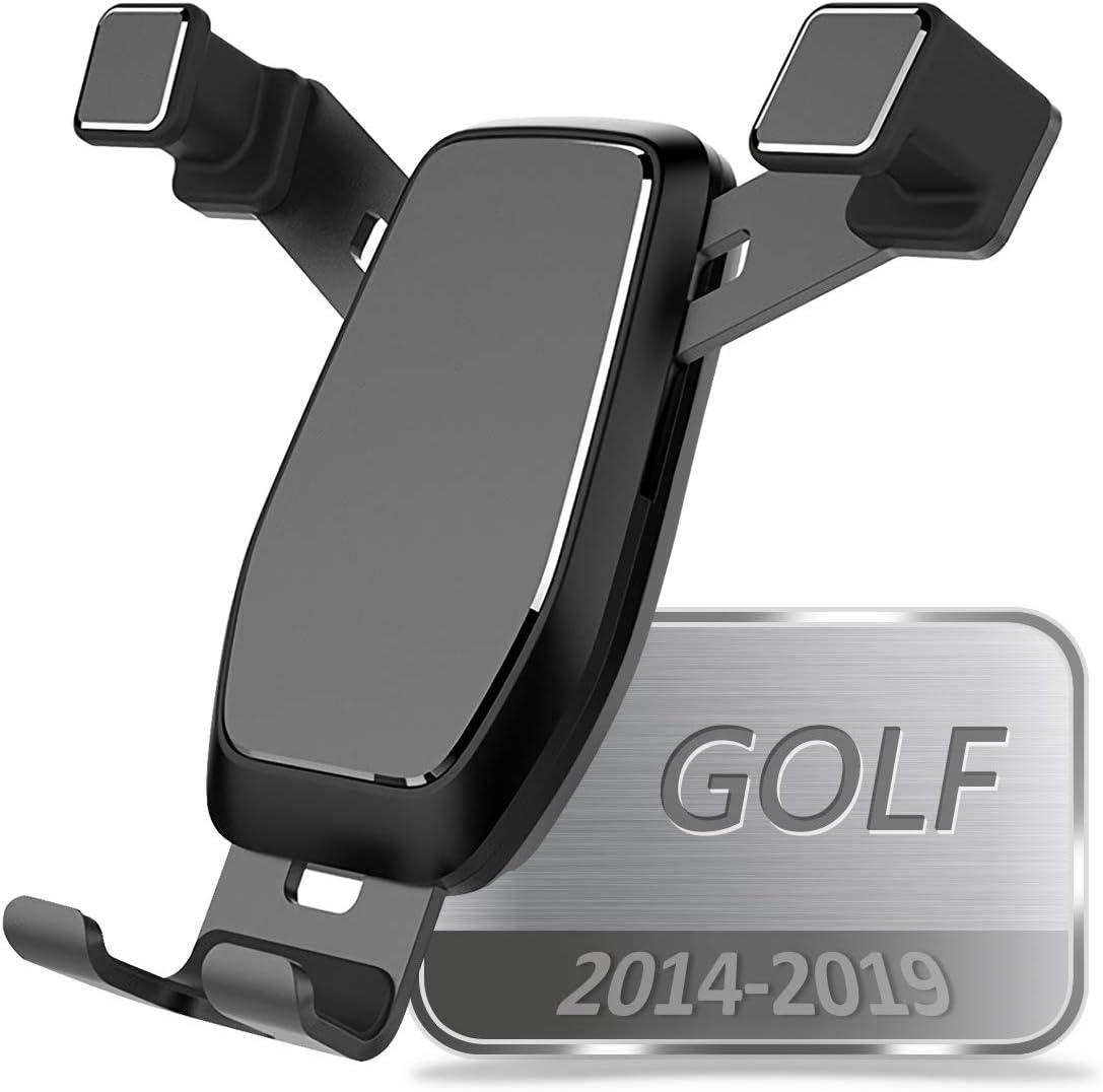 AYADA Soporte Móvil para VW Golf 7, Soporte Telefono Phone Holder Nueva Versión Gravedad Auto Lock Estable sin Jitter Fácil de Instalar Golf 7 Accesorios MK7 VII GTI