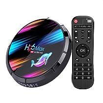 Android TV Box, H96 Max X3 Android 9.0 TV Box 4GB 64GB Amlogic S905X3 Quad Core A55 64-bit CPU 2.4G / 5G WiFi LAN 100 / 1000M BT4.0 H.265 Decode USB3.0 /