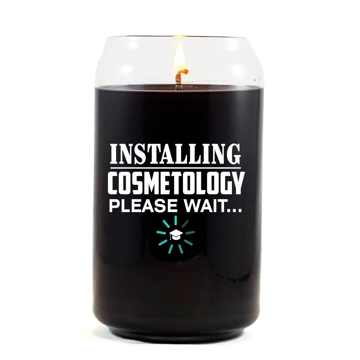 Installing COSMETOLOGY Please Wait College Degree - Scented Candle