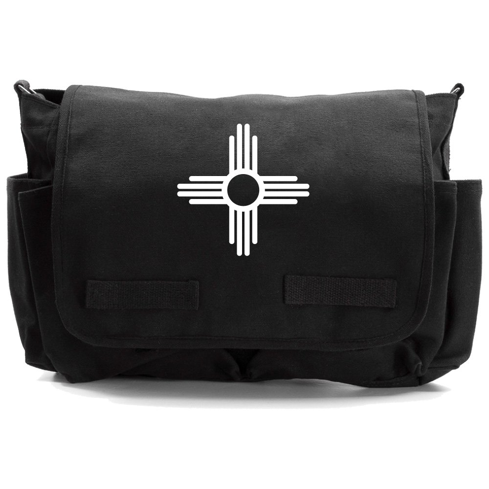 New Mexico Symbo Heavyweight Canvas Messenger Shoulder Bag