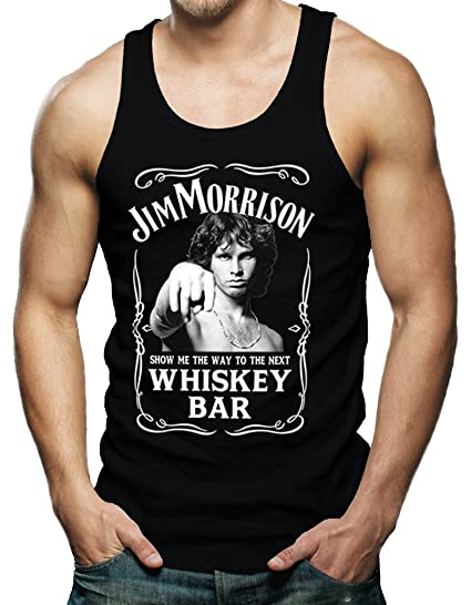 488eaaa0841486 Amazon.com  Jim Morrison Show Me The Way To Next Whiskey Bar Doors Men s  Shirt Tank Top  Clothing