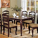 Furniture of America Kathryn Classic Style Dining Table, Dark Walnut Finish