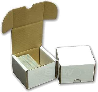 BCW STORAGE BOX 10 COUNT- Fits 200 Cards Per Box - Corrugated Cardboard Storage Box - Baseball, Football, Basketball, Hockey, Nascar, Sportscards, Gaming, Sports & Trading Cards Collecting Supplies