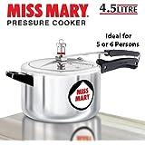 Hawkins Miss Mary Aluminium Pressure Cooker, 4.5 litres