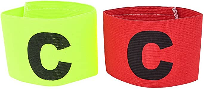 Brazalete de capitan - TOOGOO(R)Elastico Brazalete de capitan de Partido de futbol Distintivo 2pzs Verde Amarillo Rojo: Amazon.es: Deportes y aire libre
