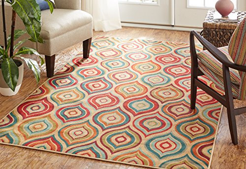 - Mohawk Home Woodbridge Larache Geometric Ogees Printed Area Rug, 5'x8',  Multicolor