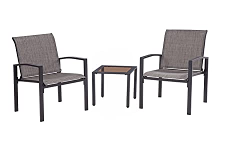 Liberty Garden Patio SS-K-160E-3BK Galveston 3-Piece Seating Set, Black