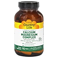 Country Life - Target-Mins Calcium Magnesium Complex with Vitamin D3-90 Tablets