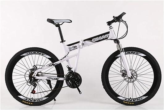 KXDLR Bici de montaña Plegable 21-30 Velocidades de Bicicletas ...