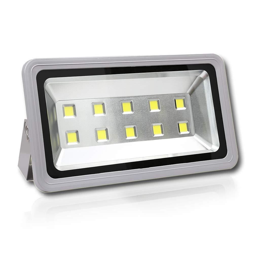 WEDO 500W LED Flood Light 50000Lm Cool White 6500K Outdoor Waterproof IP66 Security Lamp for Garden Landscape Garage Billboards No Plug