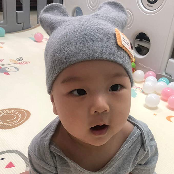 Fashion Mignon Bébé Enfants Fille Garçon Double Boules Chaud Hiver Tricot Chapeau Beanie