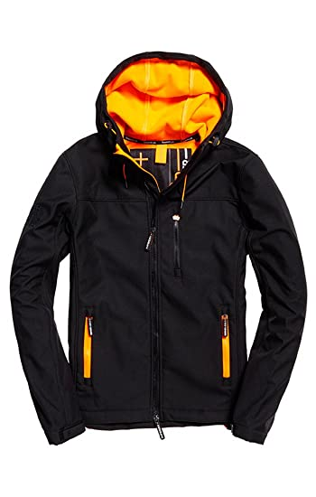 super cheap cute cheap low price sale Superdry Men's Hooded Windtrekker Jacket Black(Black ...