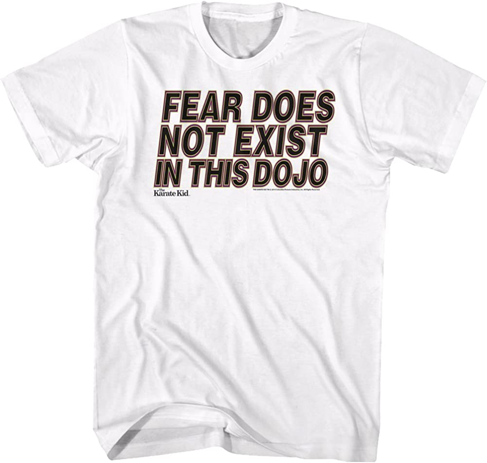 Ripple Junction Karate Kid Youth Fear Does not Exist in This Dojo Heavy Weight 100/% Cotton Crew T-Shirt