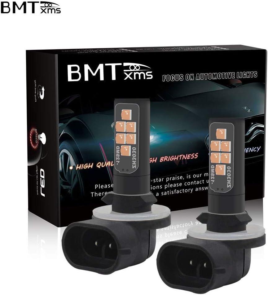 BMTxms Canbus 880 LED Bulb Fog Lights 2Pcs 880 12SMD, White 880 886 889 892 893 890 862 881 884 885 894 898 899 Auto Fog Light LED Fog Bulb Foglight DRL Light Daytime Running Lights