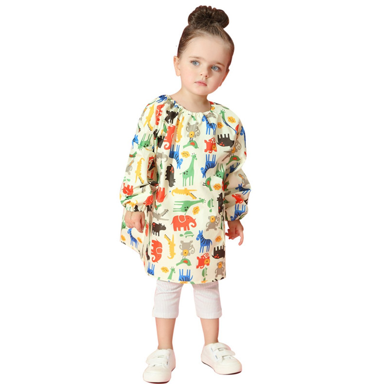 Lemonkid® Children Waterproof Painting Clothing Fashion Cartoon Kids Overclothes Dustcoat,Yellow,M/Height:95-105cm/fit 3-5T