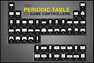Pyramid America Periodic Table of Game Controllers Cool Wall Decor Art Print Poster 36x24