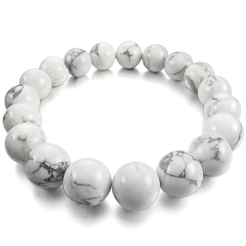 MunkiMix 12mm Energy Bracelet Link Wrist Energy Stone Buddha Mala Bead Women,Men