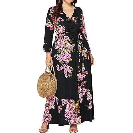 Vestido mujer-TianranRT Moda Vestido Casual De Manga Larga ...