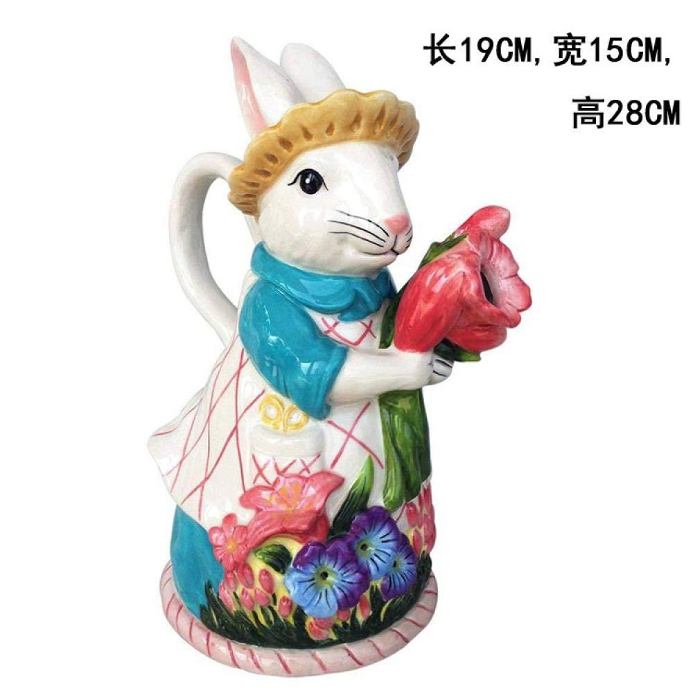 Acquisto SHUHU Teiera in Ceramica-Accessori per La Casa della Teiera della Caffettiera Teiera Bunny in Ceramica Dipinta A Mano Prezzi offerta