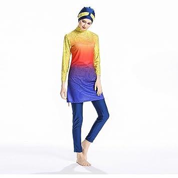 8161fba2e6b Mr Lin123 Womens' UPF 50+ Modest Muslim Swimwear for Women Girls Full  Coverage Islamic