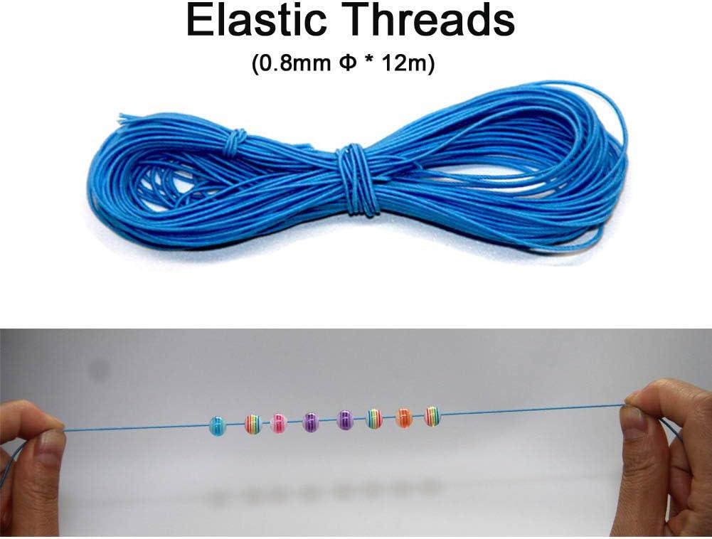 Ewparts 500 pi/èces en Acrylique Perles Multicolores Arrondir /à Rayures Perles concoctons Bracelets damiti/é Cadeaux pour Les Enfants Filles Multicolore, 8MM