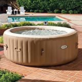Intex PureSpa 4 Person Inflatable Jet Spa Hot Tub with Drink Tray