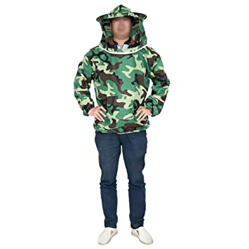 f8b66955632 Farm   Ranch Camouflage Beekeeping Jacket Veil Dress Hat Equip Suit Smock  Protective Equipment