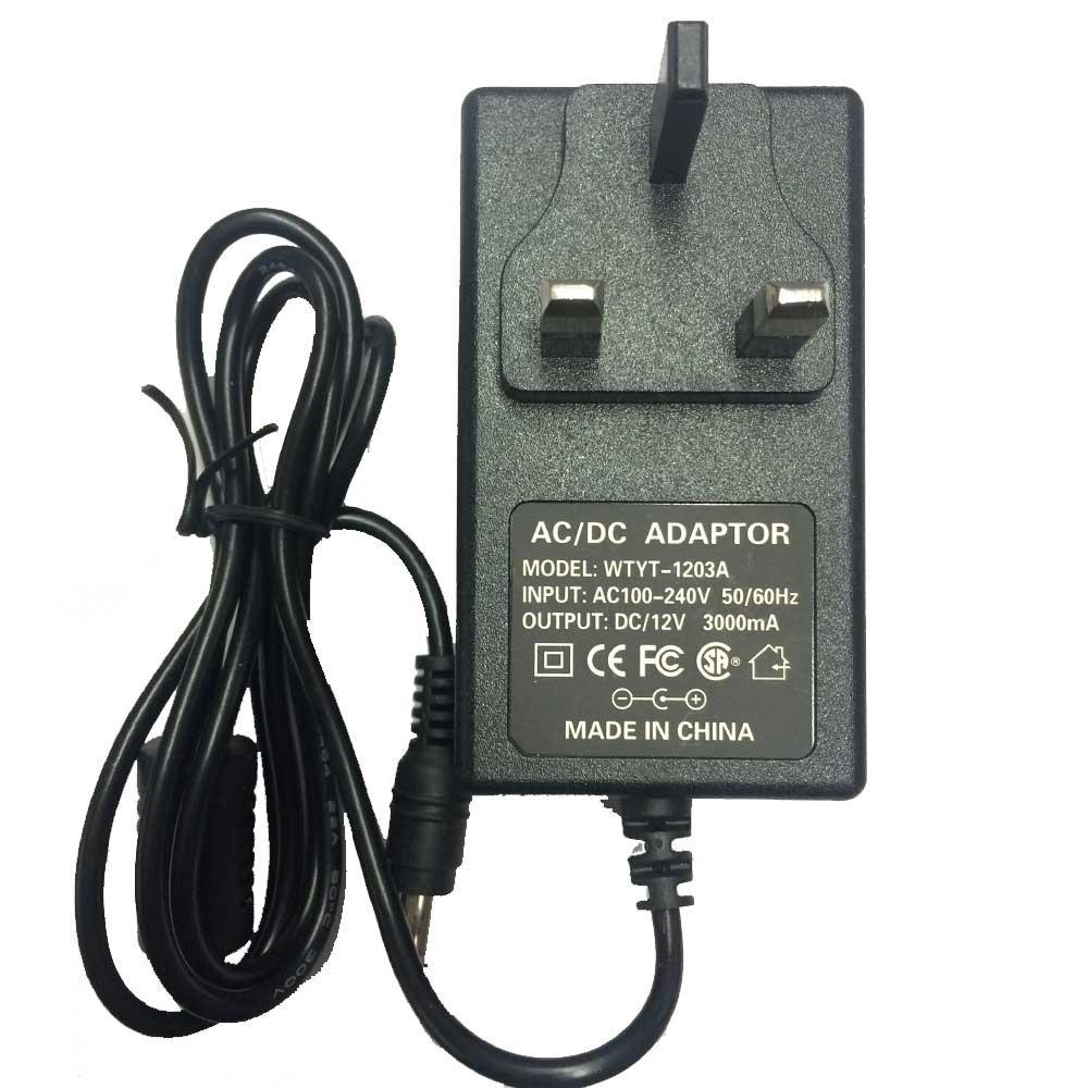 JnDee 12V 3A 3 amp DC POWER Supply ADAPTER Transformer ## Great For Powering LED Strip LED TAPE Lights ##