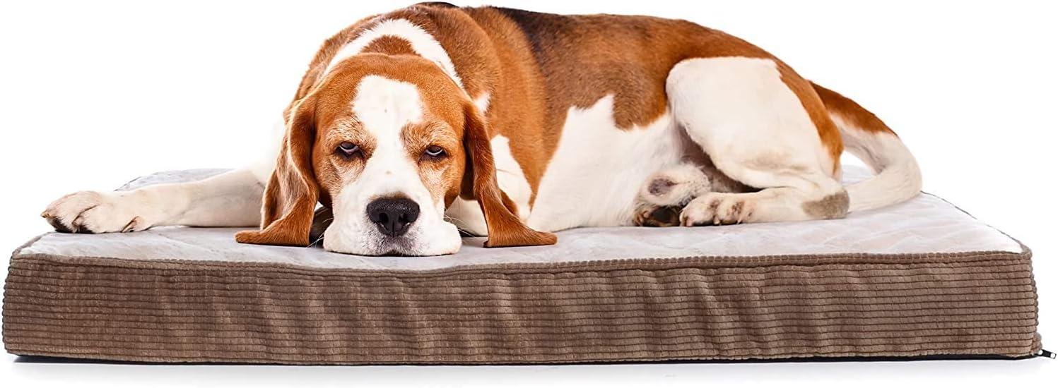 Milliard - Cama Acolchada ortopédica para Perro, Espuma de Huevo con Almohada de Felpa, Funda Lavable para Caja Estándar (104 x 68 x 10 cm)