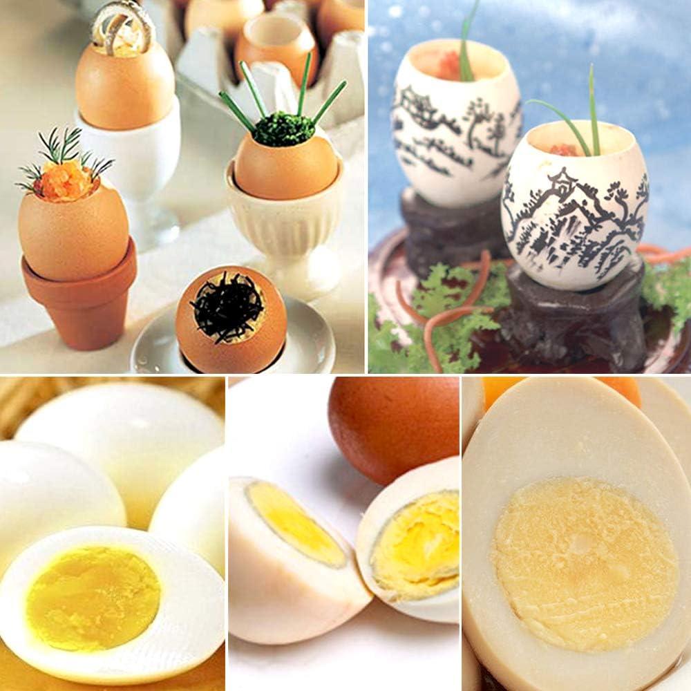 Separador de c/áscara de Huevo Toppers de Galletas abridor de Huevos de Acero Inoxidable hueveras para Utensilios de Cocina para Huevos Duros y Blandos Chingde Abridor de Huevos 3 Piezas