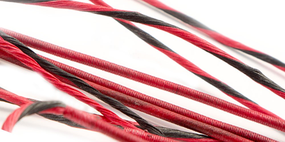 60X Custom Strings PSE Brute 11 Custom Bow String & Cable Set BCY (Red/Black) by 60X Custom Strings