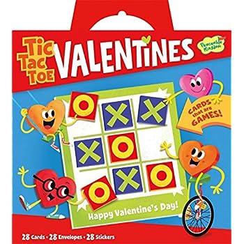 Peaceable Kingdom Valentine Tic Tac Toe 28 Card Super Valentines Pack