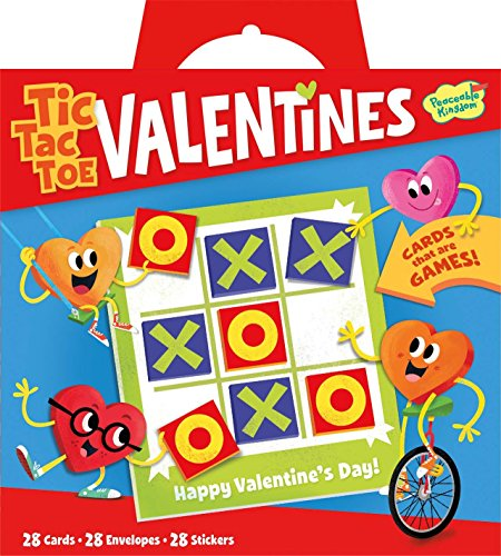 Peaceable Kingdom Valentine Tic Tac Toe 28 Card Super Valentines Pack
