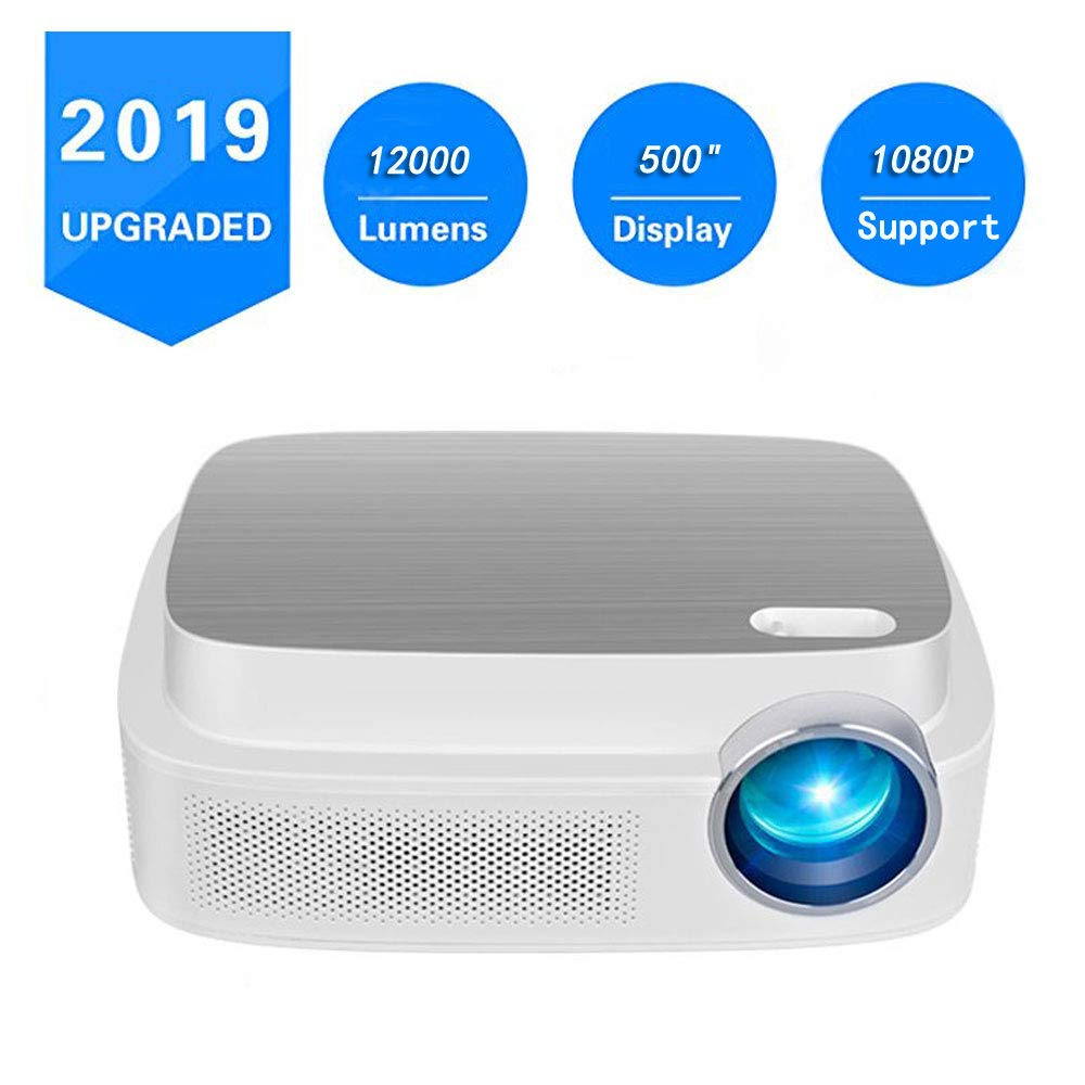 Portable Projector -12000 lumens WiFi 1080p Video Projector LCD LED Full HD Theater Projector, Ideal for Home Entertainment