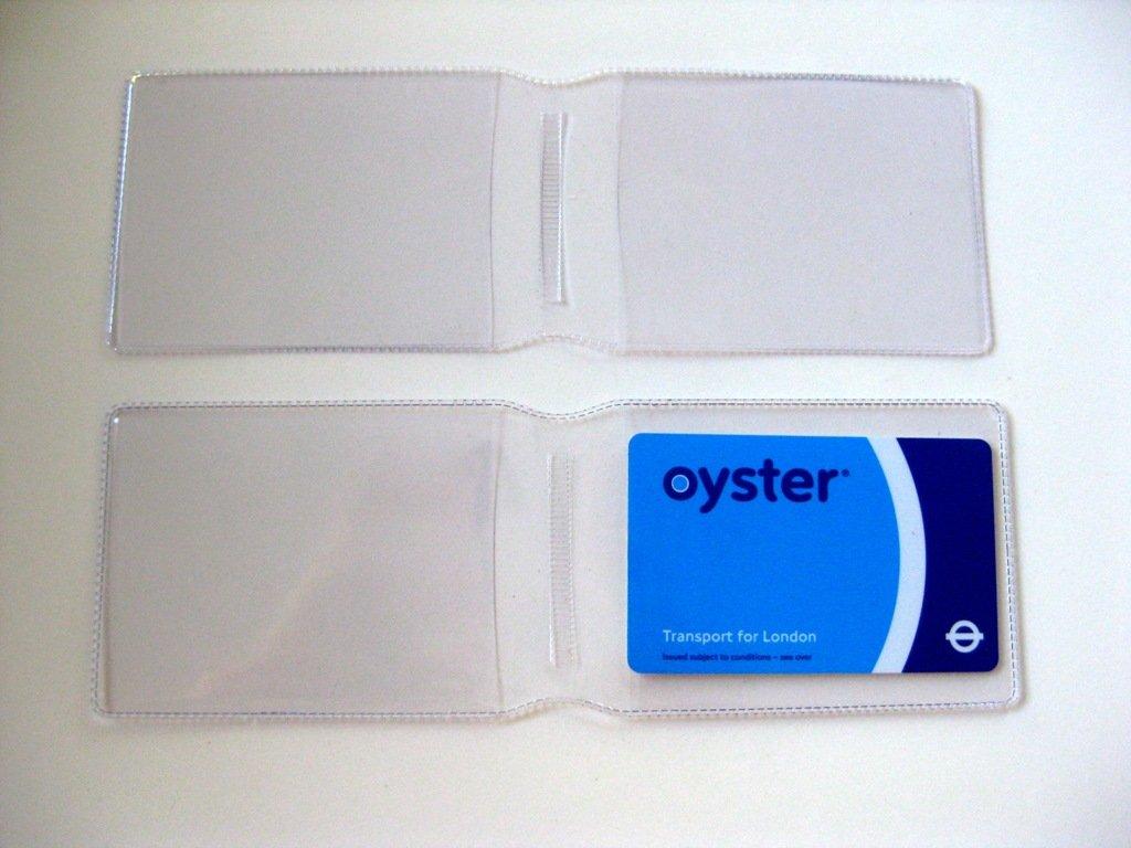 5 x claro plástico tarjeta Oyster Tipo Cartera/Cartera de ...