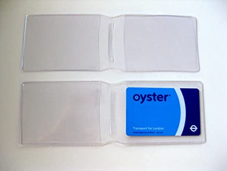 74b70374c6 Image Unavailable. Image not available for. Colour: 5 x Clear Plastic Oyster  Card Wallet / Credit Card Holder ...