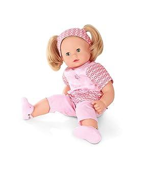 Götz 1427172 Maxy Muffin in Style Puppe - 42 cm große Babypuppe mit blauen Schlafaugen, blonden Haaren und Weichkörper - 8-te