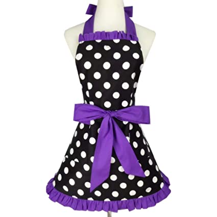 1adf4f904041 Amazon.com  NOMSOCR Lovely Sweetheart Retro Kitchen Aprons Woman ...