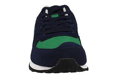 Polo Ralph Lauren Hombre Bajas Zapatillas de Deporte A85 XZ4VT XY4VT XW4T2 Slaton Pony Talla 45 Azul/Verde: Amazon.es: Zapatos y complementos