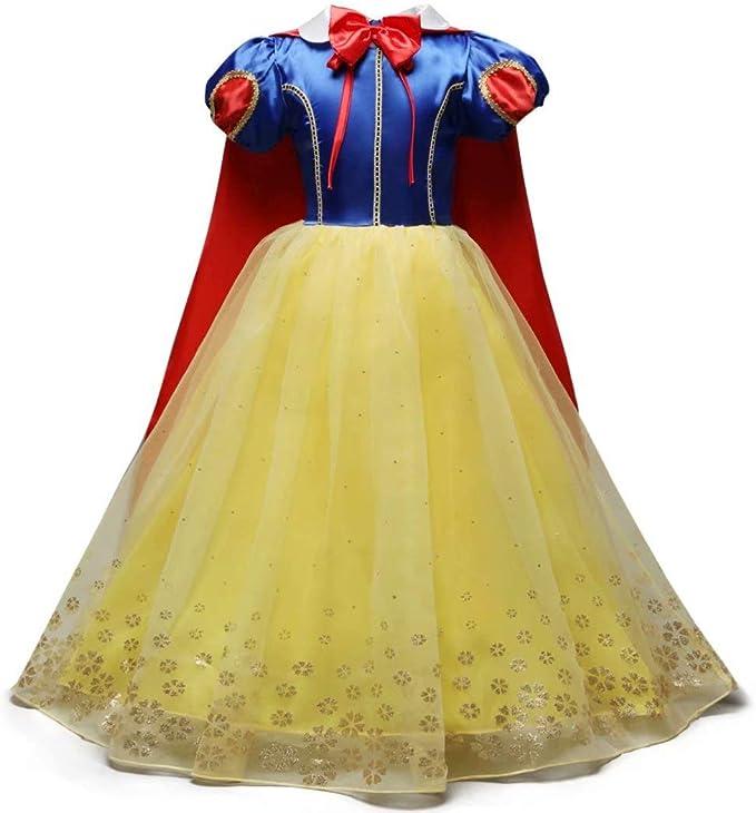 Amazon.com: Tsyllyp - Disfraz de princesa blanca de nieve ...