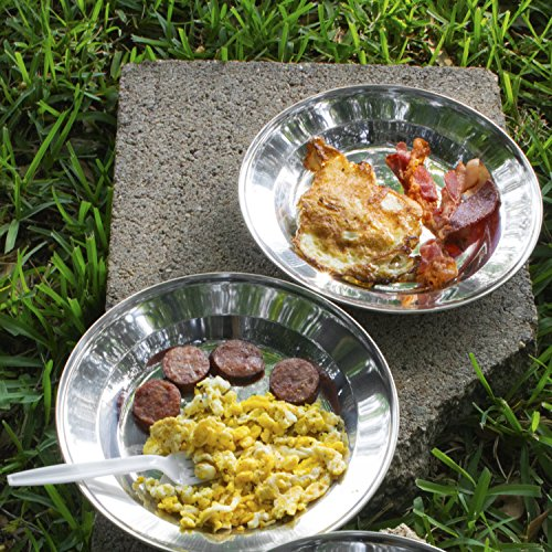 welltree Stainless Steel Plate/Dish Set - Best for Backpacker or Camping, Ideal for Toddlers and Kids by welltree (Image #1)
