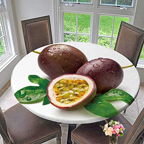 Luxury Round Table Cloth for Home use Passion Fruit for Buffet Table,  Holiday Dinner 31 5