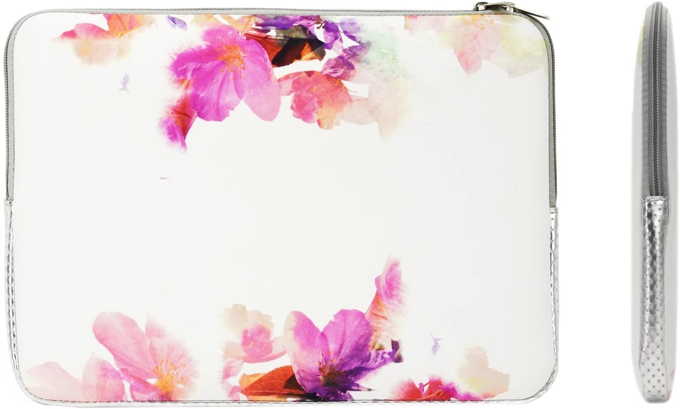 """TOP CASE - Vibrant Summer Series Zipper Sleeve Bag Case Compatible with All Laptop 13"""" 13-inch MacBook Pro/MacBook Air/MacBook Unibody/Ultrabook/Chromebook - Violet Reflection"""