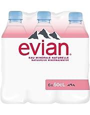 Evian Eau Minérale Naturelle Bouteille 6 x 50 cl